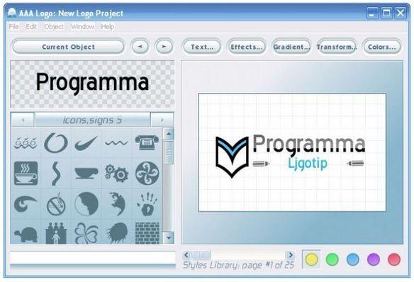 скачать программу для создания логотипов: